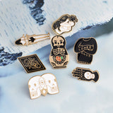 Cartoon Skull Metal brooch set Enamel pin button