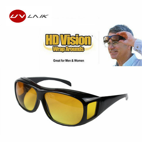 HD Vision Glasses Over Wrap Arounds Sunglasses Night Driving UV400