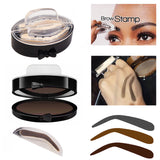 Natural Arched Eyebrow Stamp and Powder Pallette