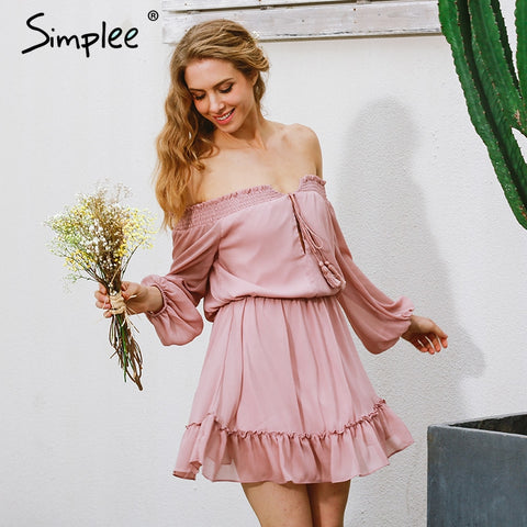 Chiffon vintage long sleeve Summer/Spring dress