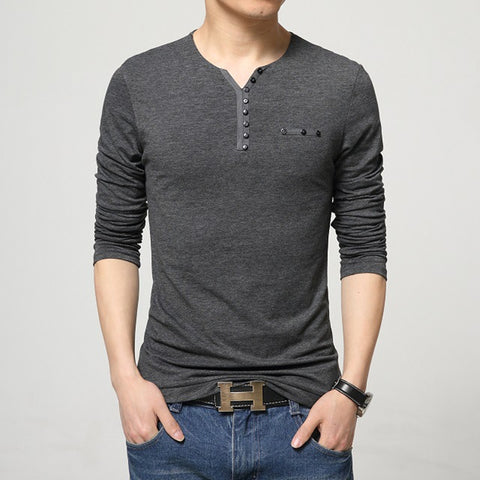 Stylish Men Slim Fit Long Sleeve Tee