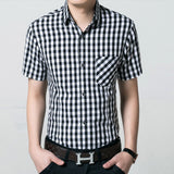 Red And Black Plaid Shirt Men Shirts 2017 Summer