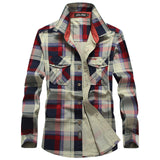 MIZEER Men's Plaid Cotton Casual Shirts