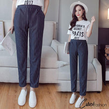 Casual Striped Pencil Pants