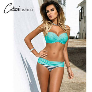 Swimsuit Low Waisted Bathing Suits Halter Top Bikini Set
