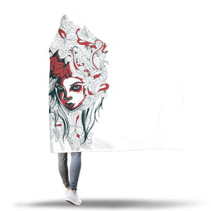 One With Nature Hooded Blanket