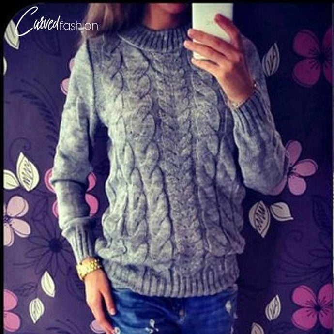 Warm Knitted O-neck Sweater