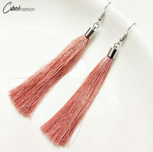 Vintage Tassel Simple Dangle Drop Earrings