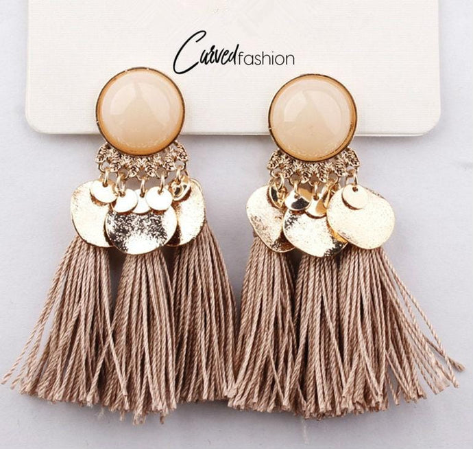 Bohemian Triple Tassel Earrings