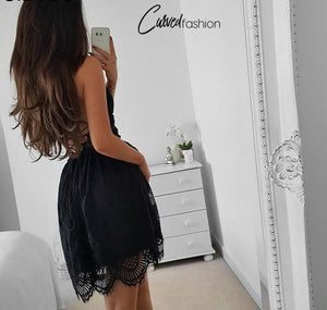 Backless Strap Super Sexy Lace Dress