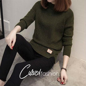 Warm Pullover Long Sleeve O-Neck Sweater