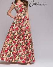 Flowers Elegant and Luxurious Long Dress