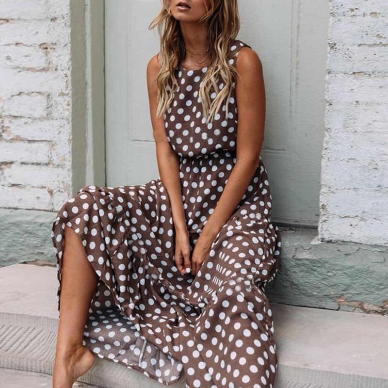 A Pretty Woman Polka dot Sleeveless Dress