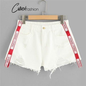 Red Tape White Denim Shorts