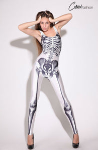 White Skeleton Catsuit