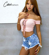 Stars Low Waist Frayed Denim Mini Shorts