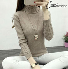 Warm Knitted Turtleneck Sweater