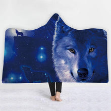Wolves Design Collection in Hooded Blanket 1