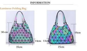 LumiBags Original - Triangle & Diamond Tote Hand Bag