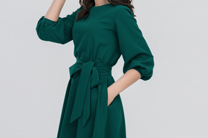 Vintage Fashion Elegant Green Dress