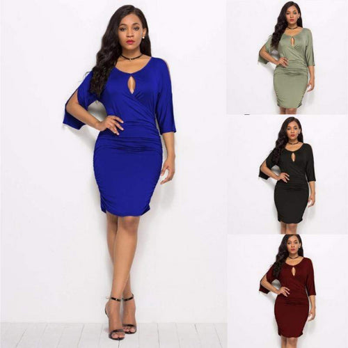 Plus size Short Sleeve Casual Sexy Dress