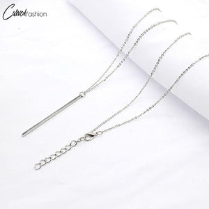 Simple Classic Long Stick Link Chain Necklace