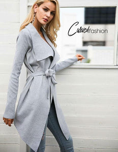 Simple Soft Cardigan with Sash