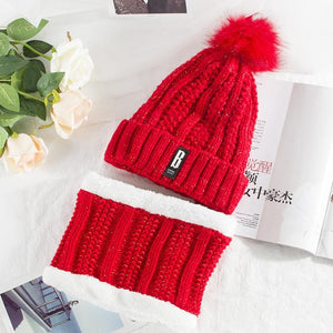2 Pieces Winter Set - Scarf and Beanie