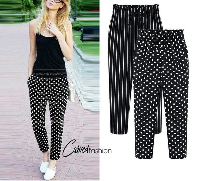 Dots & Stripes Ankle-Length Pants
