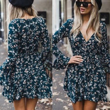 Fashion V Neck Flowing Dress