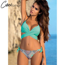 Cross Stripe Mix & Match Bikini Set