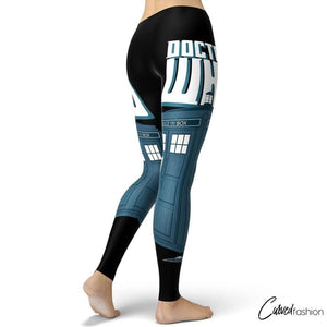 Doctor Who TARDIS Blue Box Leggings
