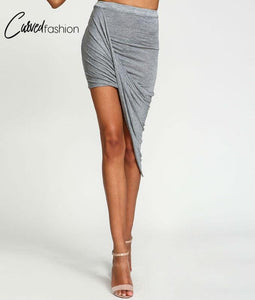 Waist Draped Cross Fold Skirt