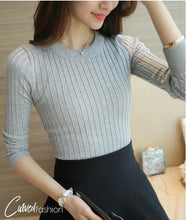 Classic Slim Knitted O-neck Sweater