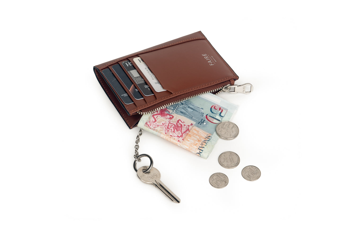 Specter Dress Belt & Card Wallet with Coin Pouch