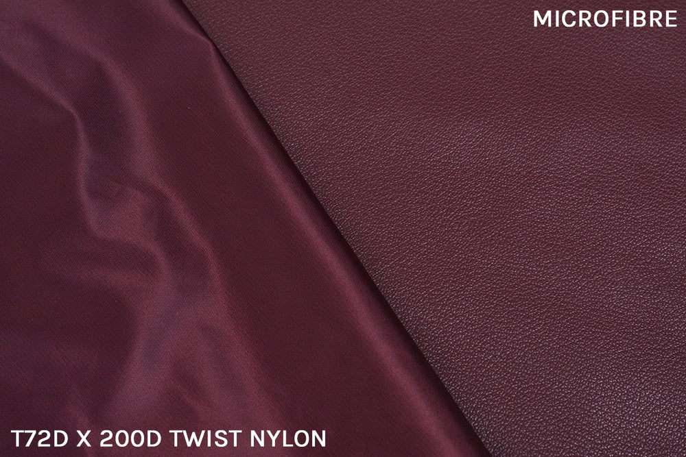 The inner lining we use is made of Microfibre - the selection of such a material makes the product lighter, and mirrors our intentions for a more polished aesthetic. We also use T72D x 200D Twist Nylon for it's resistance to water and to give the interior lining more strength.