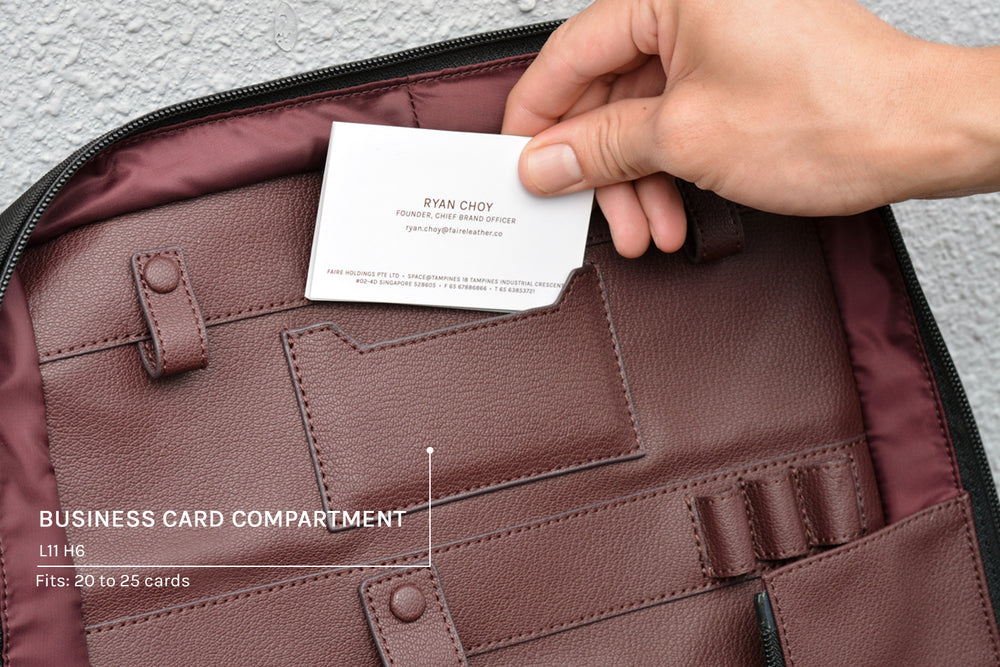 Business card compartment