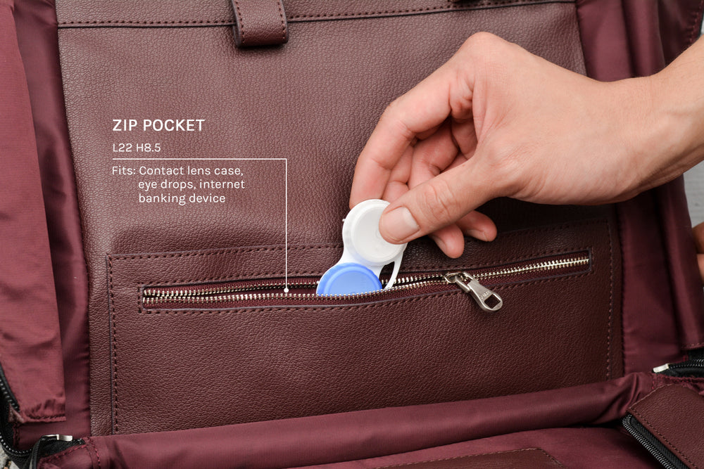Zip pocket for small items