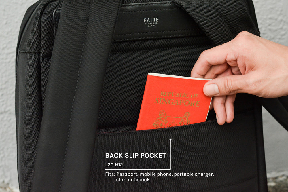 Back slip pocket (with RFID shielding)
