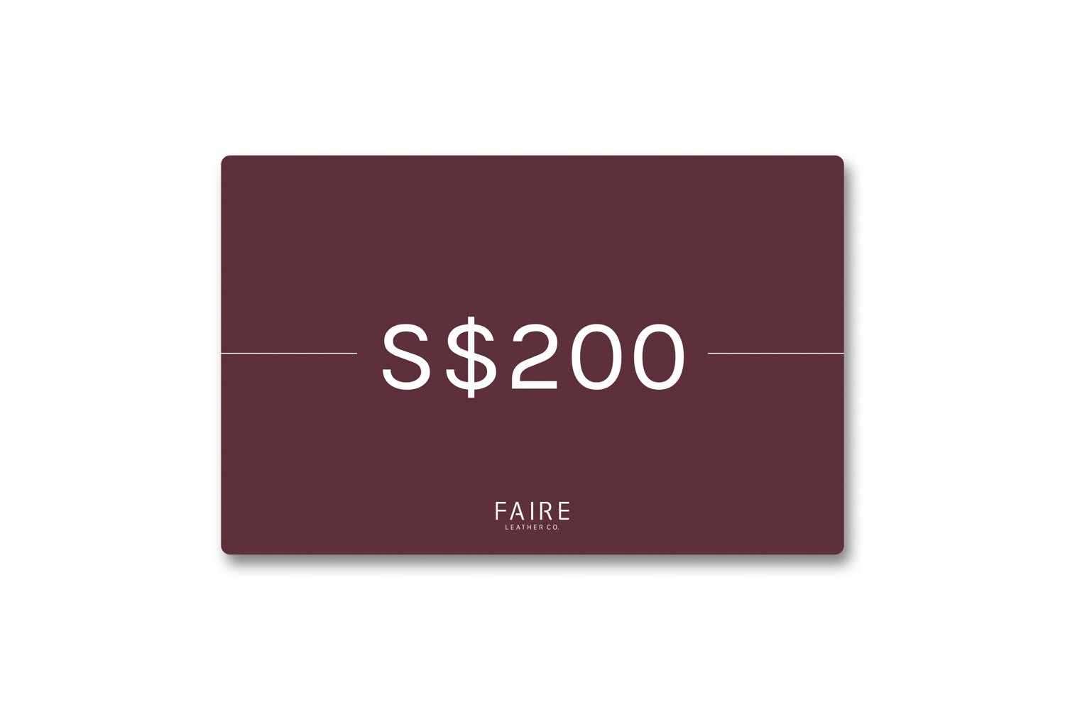 Gift Card: S$200