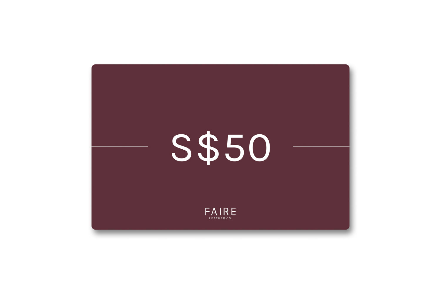 Gift Card: S$50