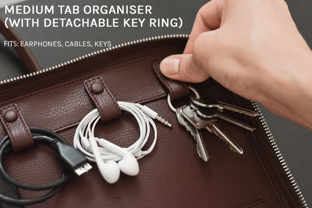 Medium tab organiser (with detachable key ring)
