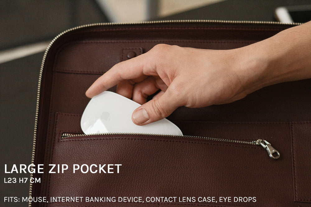 Large zip pocket