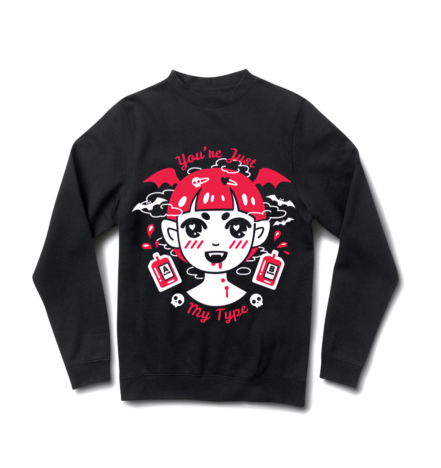 Vampy Sweater - Black