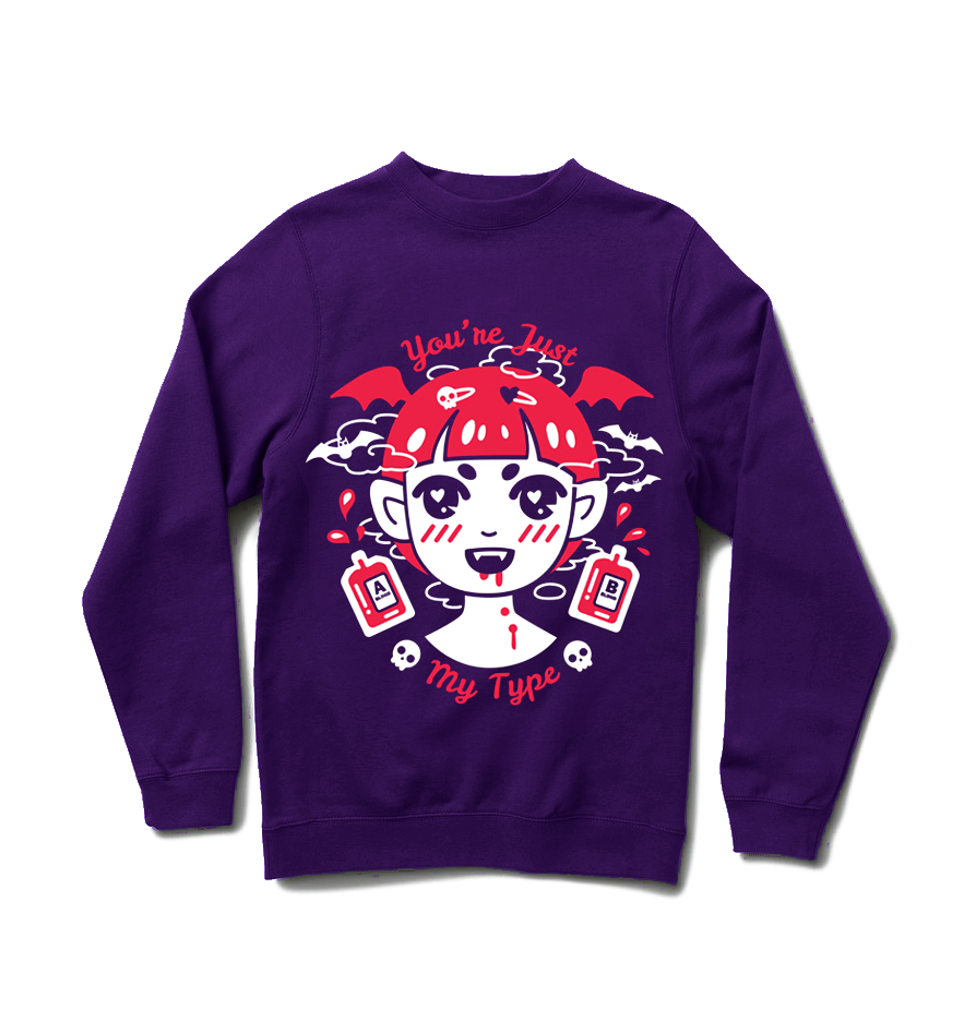 Vampy Sweater - Purple