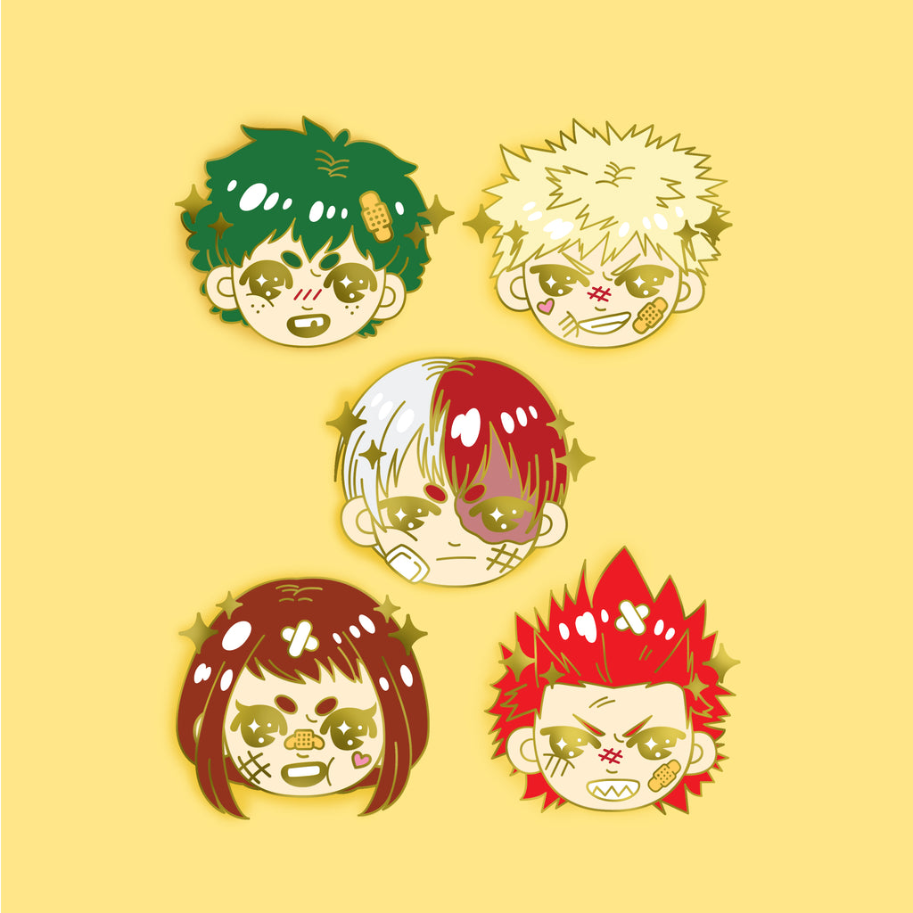 SET OF 5 BNHA - Enamel Pin -  LIMITED EDITION