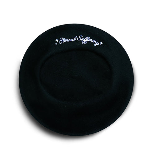 Eternal Suffering Beret - Black