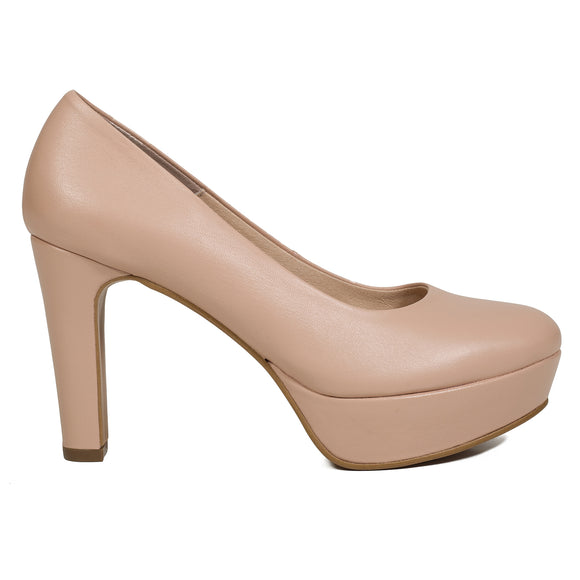 PARTY- NUDE PUMPS MIT PLATEAU