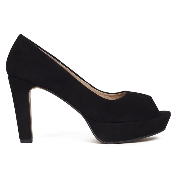 Pumps Urban High Heel Peeptoe Schwarz
