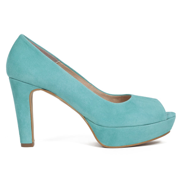 Pumps Urban High Heel Peeptoe Aquagrün